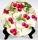 Hand Painted Cherries Plate