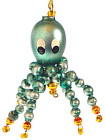 Vintage Mercury Glass Bead Octopus Ornament