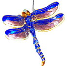 Enamel Jointed Blue Dragonfly Ornament