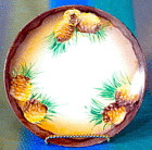 Vintage Hand Painted & Signed Pinecone Plate
