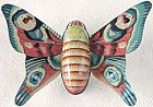Vintage Tin Litho Friction Butterfly/Moth Toy