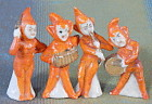 Vintage Porcelain Pixie Figurines Set of 4