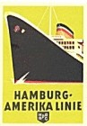 Vintage Luggage Label: Hamburg-Amerika Line