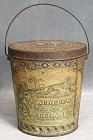 Schepp's Cocoanut Pail Style Tin with Handle
