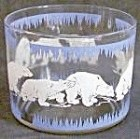 Vintage Hazel Atlas Polar Bear Ice Bucket