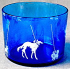 Hazel Atlas Blue/White Ice Bucket In The Dog Show