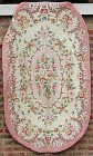 Multicolored Flowers Oval Hooked Rug