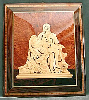 Wood Marquetry Picture Of The Pieta