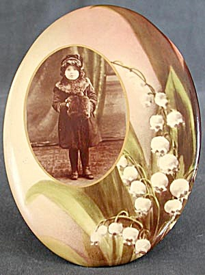 Antique Celluloid On Metal Picture