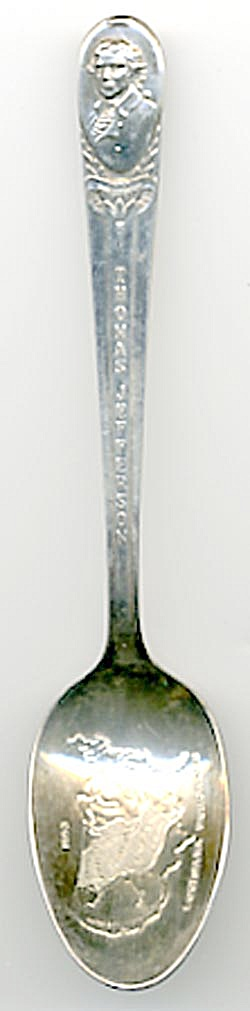 Vintage Thomas Jefferson  Spoon (Image1)
