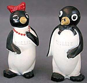 Kool cigarettes Willie & Millie Penguin Shakers (Image1)