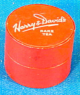 Vintage Harry & Davids Rare Darjeeling Tea Tiny Red Box