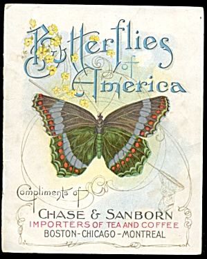 Butterflies Of America Vintage Chase Sanborn Booklet