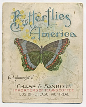 Vintage Butterflies Of America Chase Sanborn Booklet