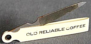 Vintage Old Reliable Coffee Nail File Rare