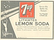 7up Brand Soda Beverage Label