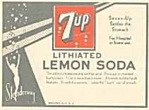7UP Brand Soda Beverage Label (Image1)