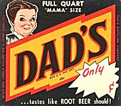 Dad's Root Bee Paper Label - Quart