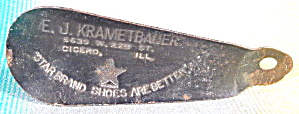 Vintage Metal Star Bank Shoes Shoe Horn