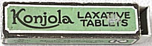 Vintage Konjola Laxative Tablets Box