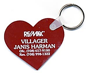 Key Chain: Red Heart Remax