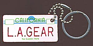 Key Chain: L. A. Gear License Plate