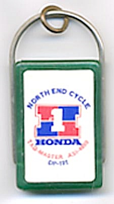 North End Cycle Honda Key Chain