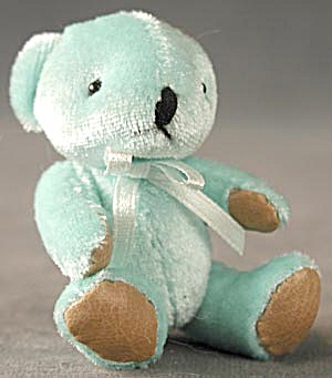 Aqua Plush Teddy Bear Key Chain