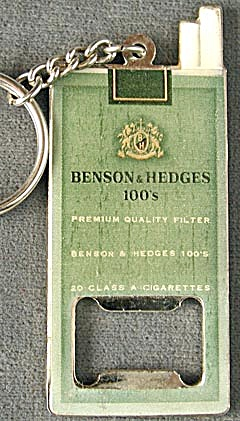 Benson & Hedges Metal Keychain