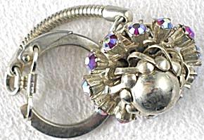 Vintage Rhinestone Planet Look Keychain (Image1)