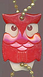 Key Chain: Vintage Red Owl
