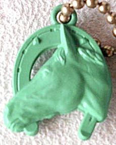 Vintage Horse in Horseshoe Keychain (Image1)