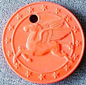 Vintage Mobil Oil Pegasus Keychain/Token  (Image1)