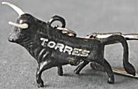 Vintage Torres Black Bull Keychain (Image1)