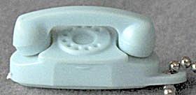 Vintage Aqua Princess Phone Keychain (Image1)