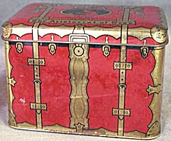 Vintage Swee-touch-nee Tea Trunk Tin