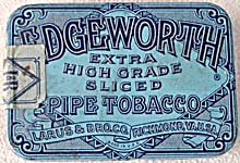 Vintage Edgeworth Pipe Tobacco Tin