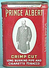 Vintage Pocket Tin Prince Albert Crimp Cut Tobacco