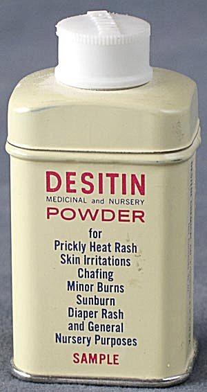 Vintage Sample Desitin Nursery Tin