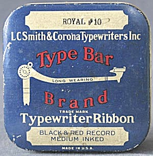 Type Bar Brand Typewriter Ribbon Tin (Image1)