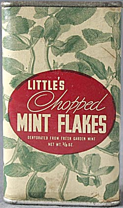 Vintage Little's Chopped Mint Flakes Tin