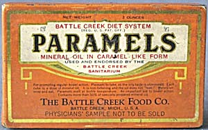 Vintage Paramels Mineral Oil Sample Tin