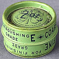 Vintage Clover Grinding Compound Two Sided Tin