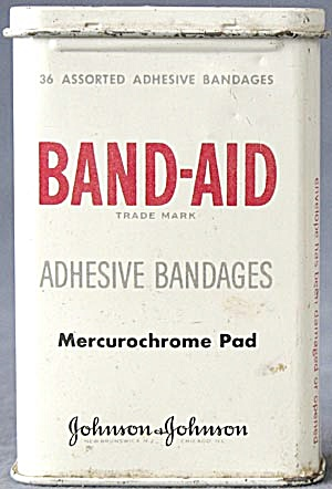 Vintage Band-aid Mercurochrome Pad Tin