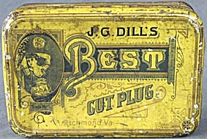 Antique J. G. Dill's Best Cut Plug Tin