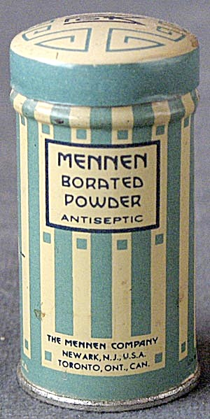 Vintage Art Deco Mennen Borated Powder Antiseptic Tin (Image1)