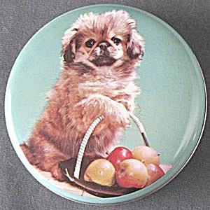 Vintage Pekinese Puppy Tin (Image1)