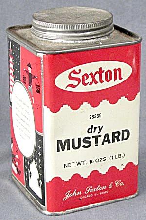 Vintage Sexton Dry Mustard 1 Pound Tin (Image1)