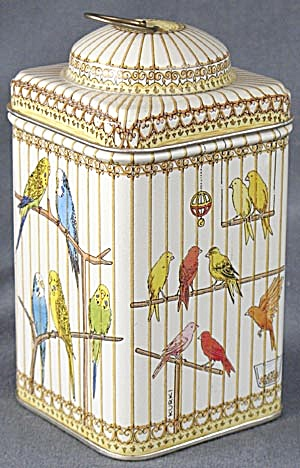 Vintage Bird Cage Tin Art By Kim Kurki