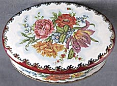 Vintage Flower Tin Daher Of Long Island NY  (Image1)